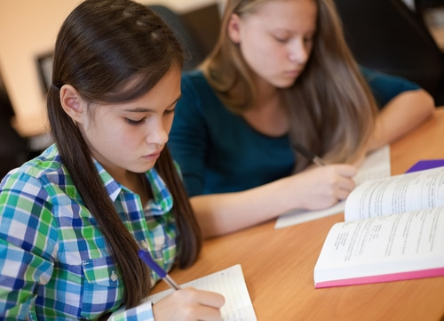 Students Reading and Writing