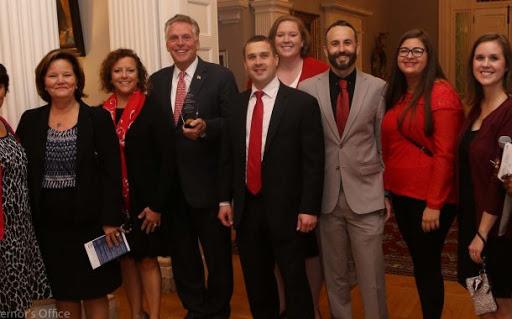 Weems ES receives a the Virginia Governor's Award
